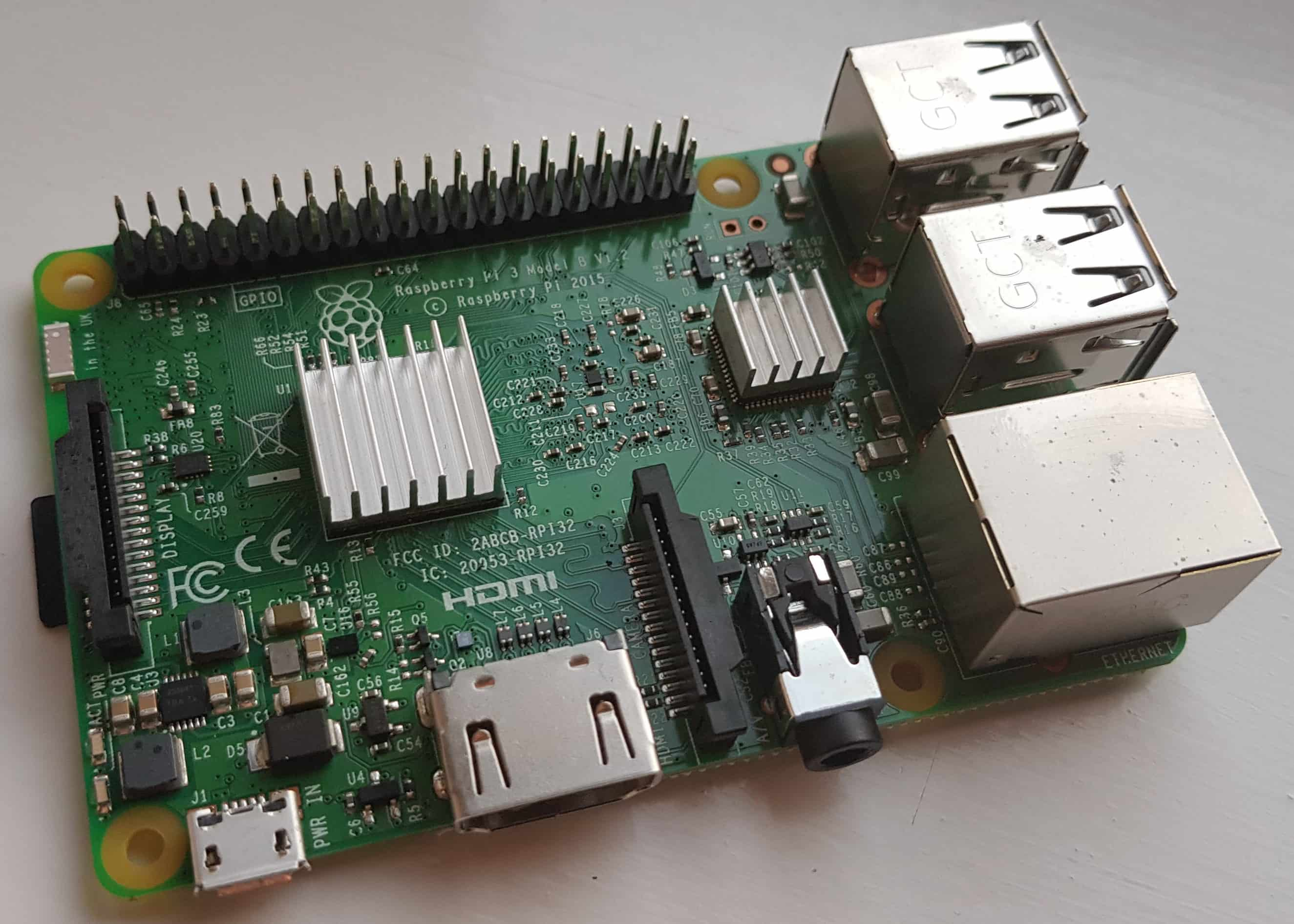 Raspberry Pi with Heatsink