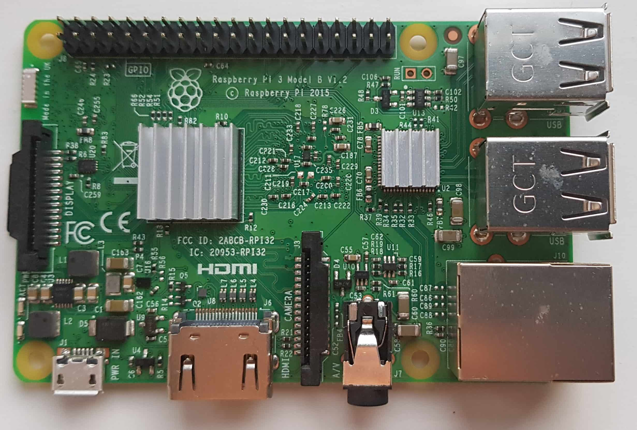 Raspberry Pi with Heatsink Top